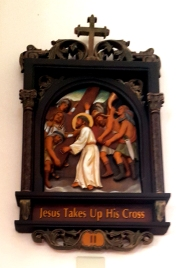 Via Crusis II Jesus takes up His Cross