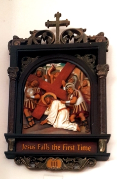Via Crusis III Jesus falls the First Time