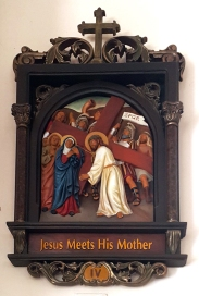 Via Crusis IV Jesus meets His Mother