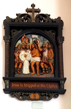 Via Crusis X Jesus is stripped of His Clothes