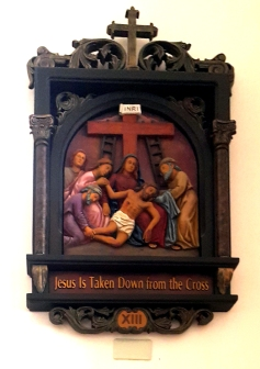 Via Crusis XIII Jesus is taken down from the Cross