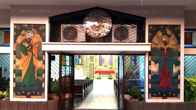 1960s-2003 Holy Family Parish, Doorway