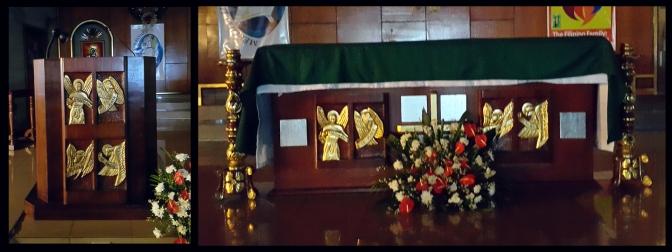 1987 San Lorenzo Ruiz Parish, Altar and Lectern