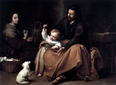1650 Bartolomé Esteban Murillo (1617–1682) - The Holy Family with a Bird