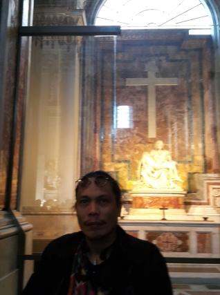 1550-55 Michelangelo di Lodovico Buonarroti Simoni (1475-1564) - Pietà, St Peter's Basilica, Rome