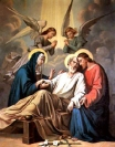 The Death of St. Joseph, from St. Bridget Catholic Church, Virginia, USA