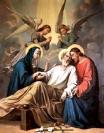 The Death of St. Joseph, from St. Bridget Catholic Church, Virginia, USA