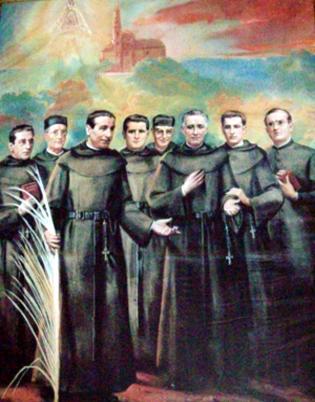 Beatos Mártires de Motril. Detalle del cuadro de la iglesia de Motril (Granada)