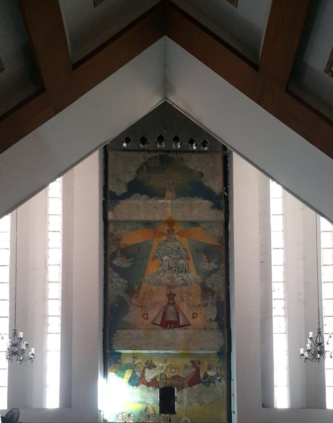 1983 Jess Perez & Jim de Tagle - Porch & Mural, The Blessed Sto. Nino and the Holy Trinity