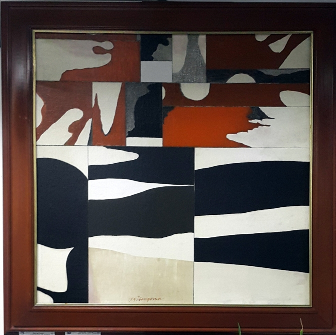 1974 Alfredo Liongoren - Abstract in Earth Colors