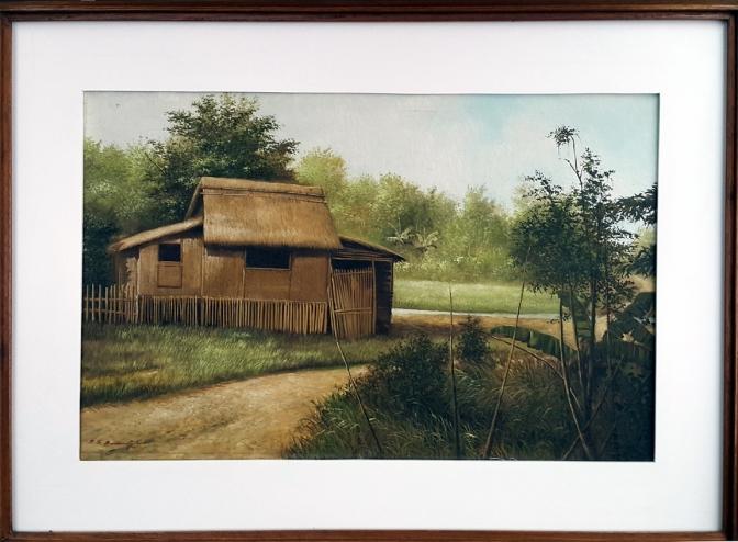 1981 Benigno S. Buendia - Nipa Hut beside the Mountain