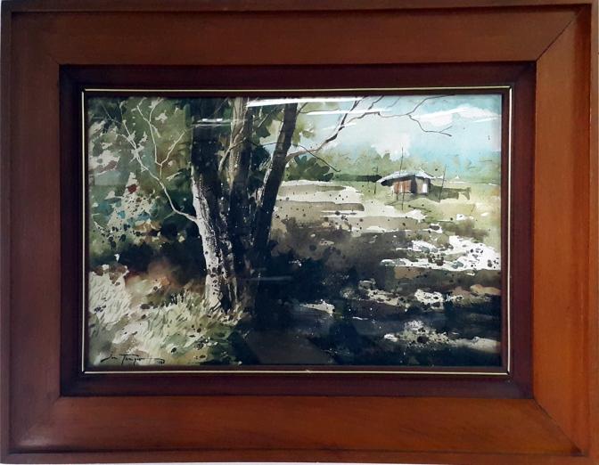 1980 Jun Tiongco - Tanay Landscape
