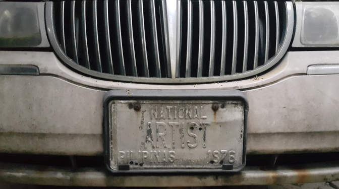 Napoleon Abueva, National Artist's License Plate