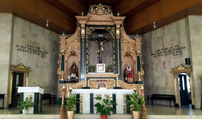 1987 San Isidro Labrador Parish Church, Altar & Nave