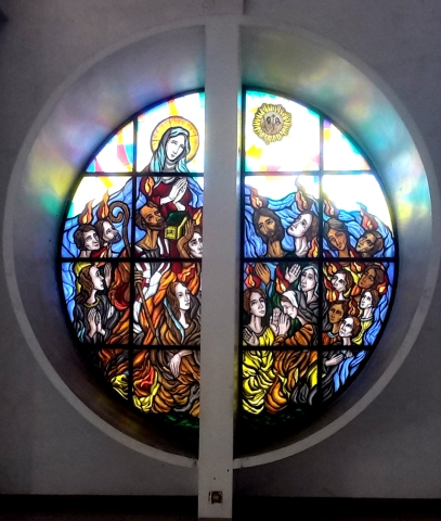 Stained Glass, Our Lady of the Pentecost Rondel