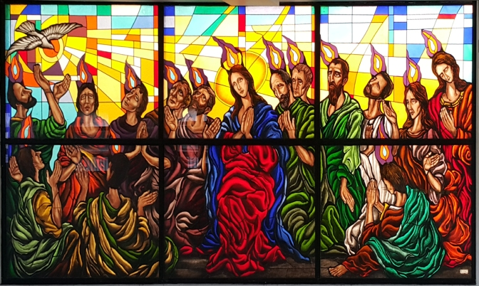 13C Stained Glass, Our Lady of the Pentecost