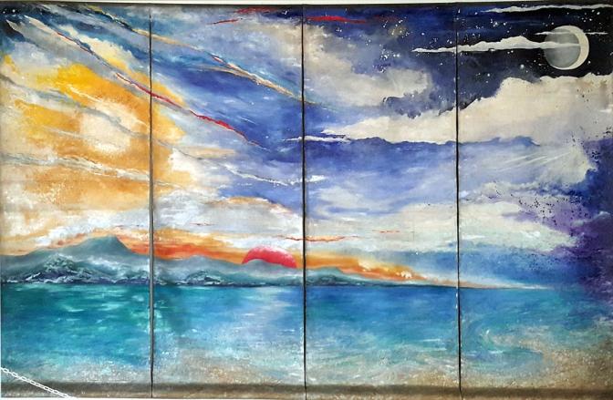 04 1991 Phyllis Zaballero - Sky over Boracay