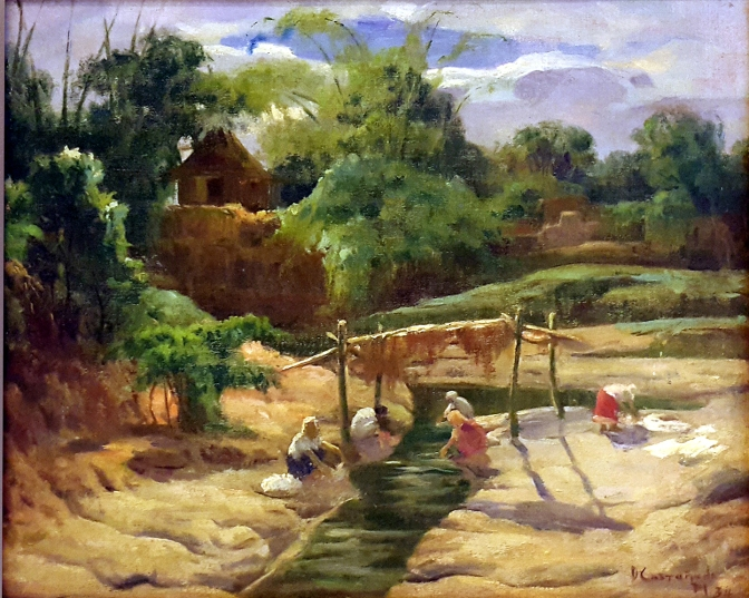 06 1934 Dominador Castañeda - Women Washing Clothes (Lavanderas)