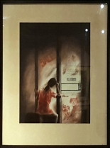 1978 Alfredo Manrique - Small Girl in front of Posters