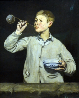 1869 Edouard Manet - Boy Blowing Bubbles