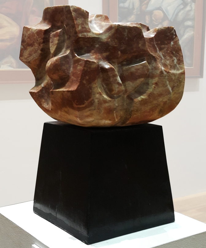 06A 1985 Renato Rocha - Abstraction in Red Marble