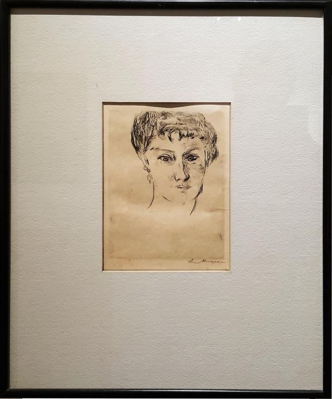 07 1922 Max Beckmann - Mink von vorn mit grosser Frisur