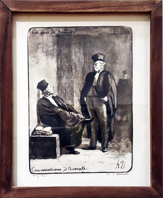 1845 Honoré Daumier - Les Gens de Justice, Conversations d'Avocats