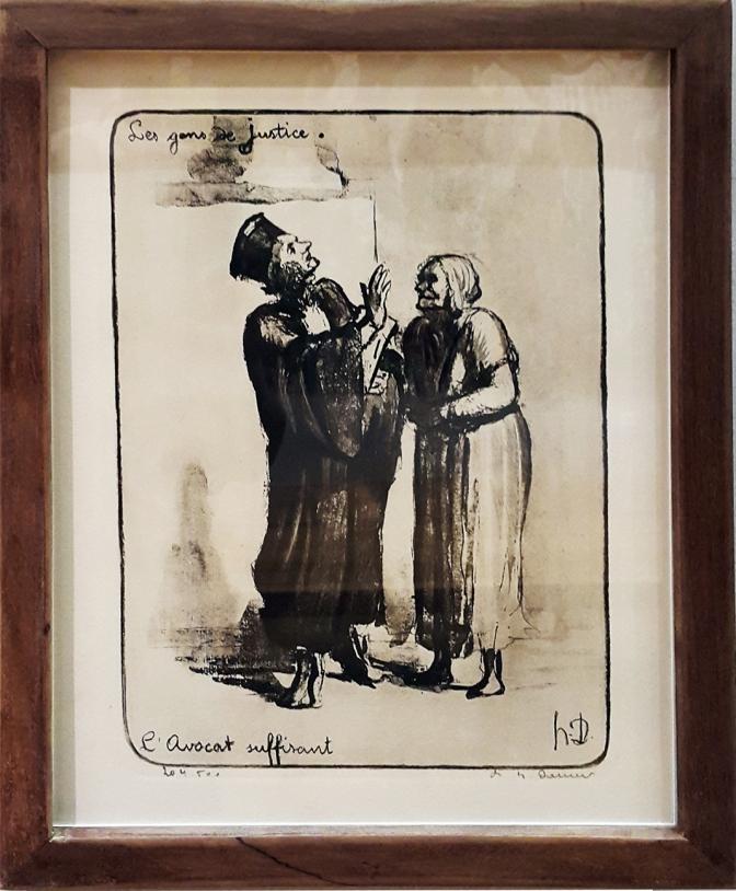 1845 Honoré Daumier - Les Gens de Justice, L' Avocat Suffirant