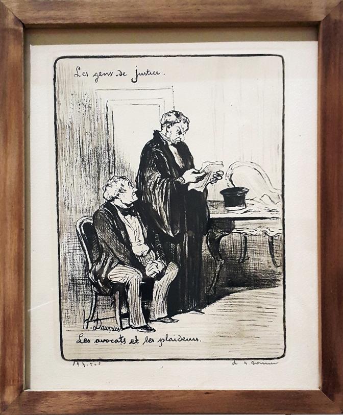 1845 Honoré Daumier - Les Gens de Justice, Les Avocats et les Plaideurs 1