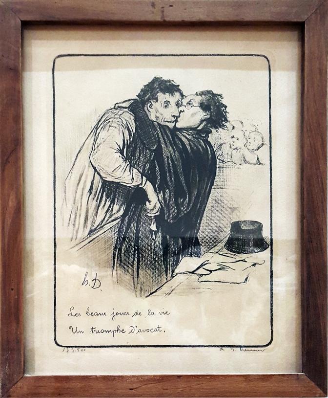 1845 Honoré Daumier - Les Gens de Justice, Les beaux jours