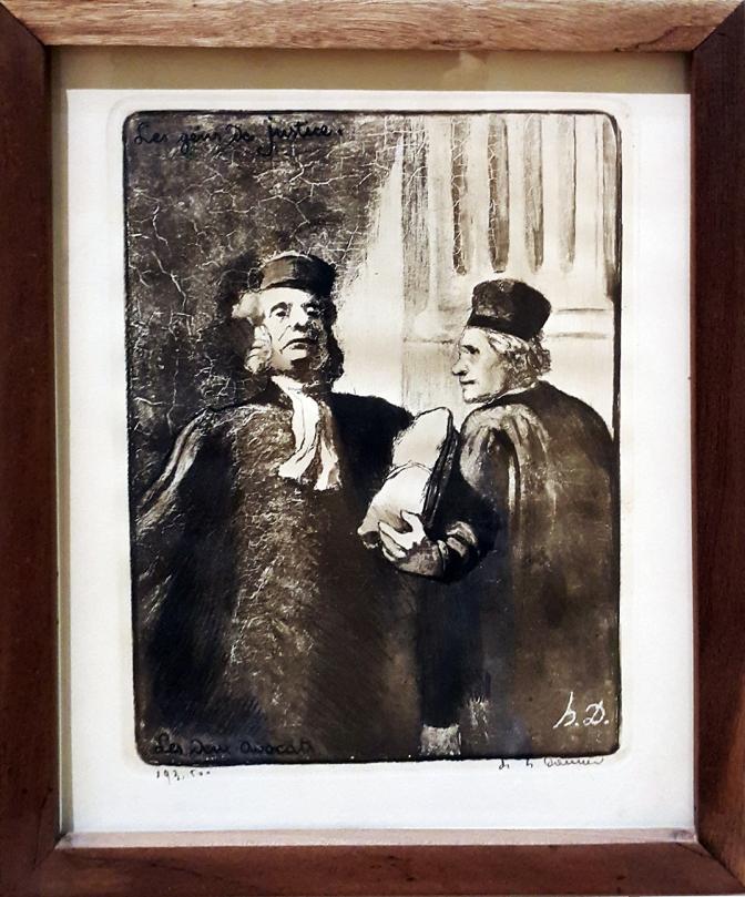 1845 Honoré Daumier - Les Gens de Justice, Les Deus Avocat