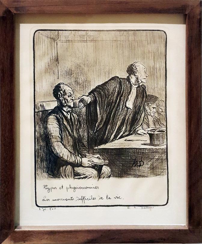 1845 Honoré Daumier - Les Gens de Justice, Les Moments Difficiles