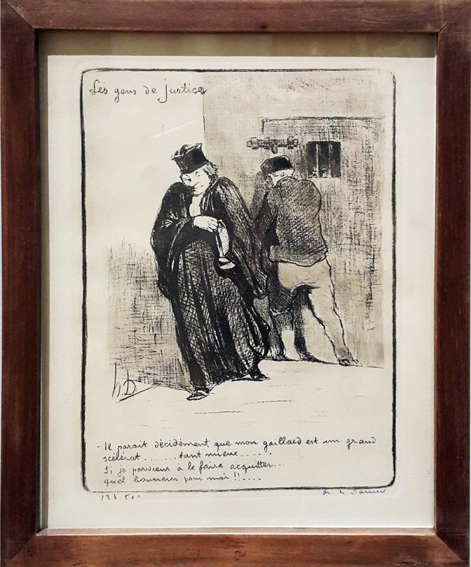 1845 Honoré Daumier - Les Gens de Justice, Ll parait decidiment