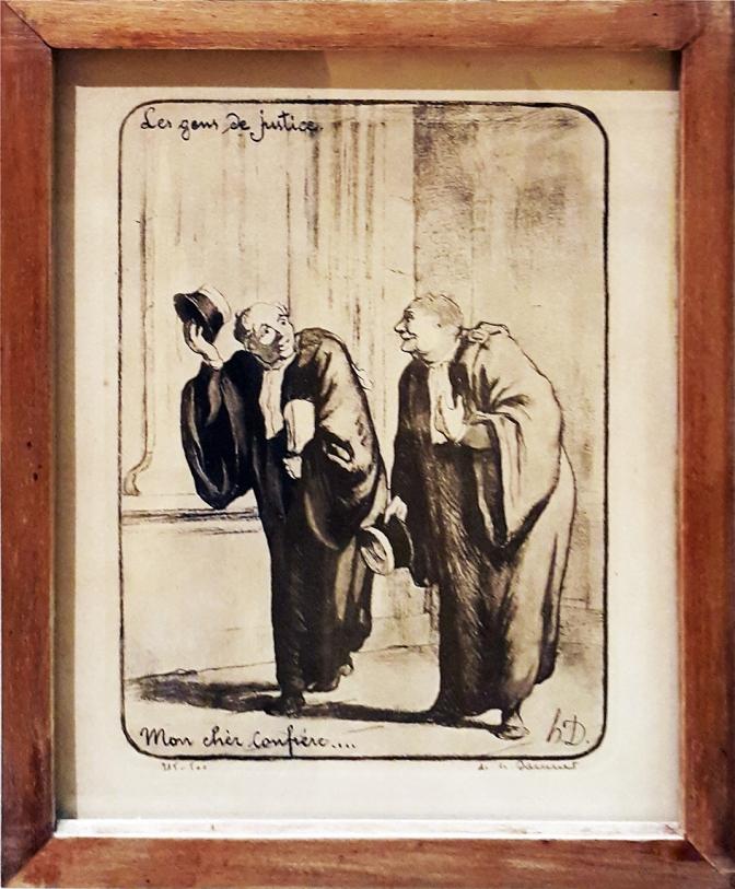 1845 Honoré Daumier - Les Gens de Justice, Mon Chere Confrere