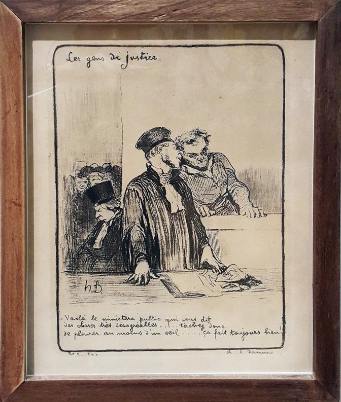 1845 Honoré Daumier - Les Gens de Justice, Vaila le Ministers