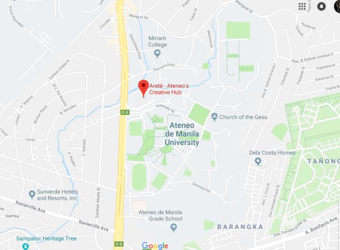 00 2017 Areté, Ateneo de Manila Map