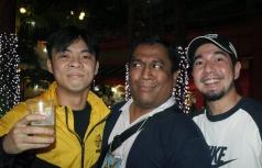 Mhel Garrido with members of Parokya ni Edgar