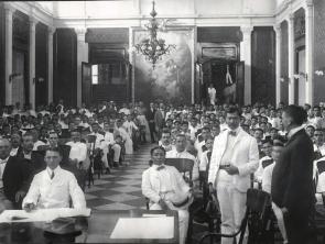 1905 Felix Resurreccion Hidalgo - Per Pacem et Libertatem, Salon de Marmol of the Ayuntamiento de Manila