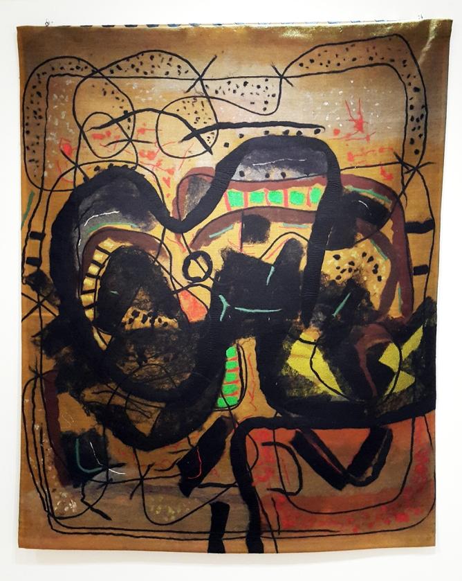 Federico Aguilar Alcuaz - Ochre Tapstry, Ateneo Art Gallery