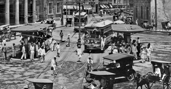 00B 1920s Tranvia in Santa Cruz, Manila