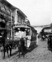 1890 Horse-drawn Tranvia, Escolta, Manila