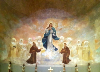1955 Stella Maris College Chapel of the Lilies, Altar Mural