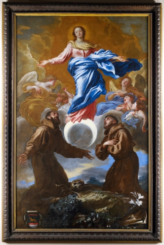 1650 Immaculate Conception with Saints Francis of Assisi & Anthony of Padua by Giovanni Benedetto Castiglione (1609-1664)