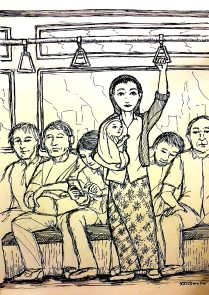 2015 Our Lady of the MRT by Lakan Olivares