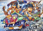 Aurora Boulevard, Quezon City: Religious Jeepney Art and Pop Culture
