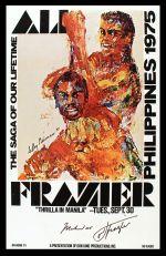 1975 Thrilla in Manila by poster art LeRoy Neiman (1921-2012)