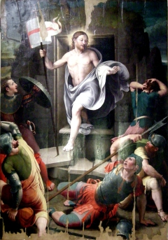 1600s Resurrezione di Cristo by Raffaellino del Colle (1490–1566)
