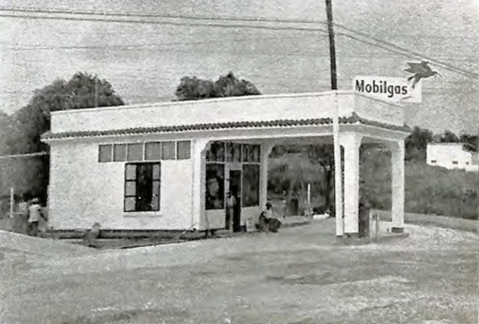 1948 Mobilgas Station, N. Domingo & Broadway Ave. of Antonio Heras