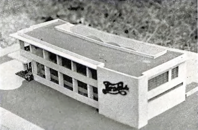 1948 Scale Model of the Pepsi-Cola Plant, Gilmore Ave. & Aurora Boulevard