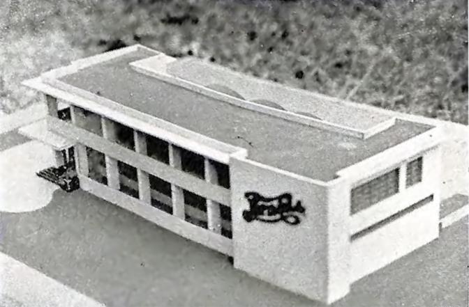 1948 Scale Model of the Pepsi-Cola Plant, Gilmore Ave. & Aurora Boulevard